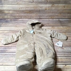 NWT Carters 6-9 months tan bear snow suit